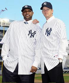 C.C. Sabathia (L) and A.J. Burnett